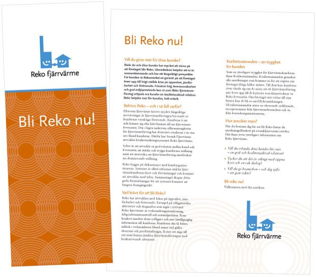 Svensk Fjärrvärme – Bli Reko nu! folder