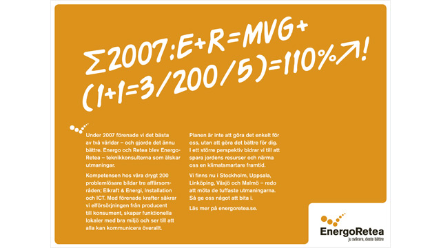 Annons för EnergoRetea