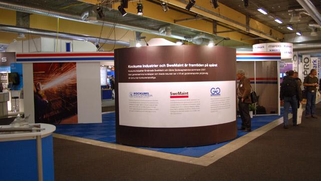 SweMaint och Gävle Godsvagnservice's gemensamma monter på Nordic Rail 2007