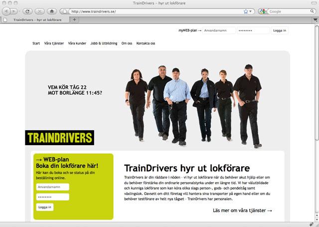TrainDrivers webbplats