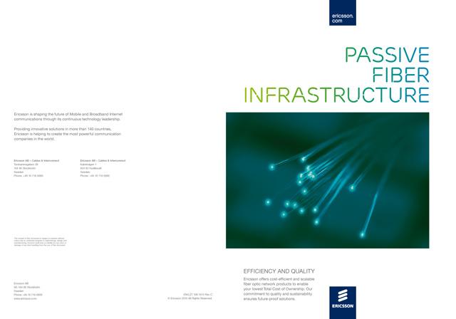 Omslaget till Ericsson Network Technologies produktkatalog