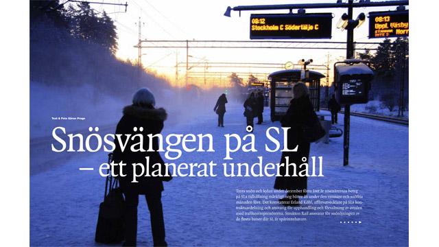 Ett uppslag ur Spåradiskt nr 1, 2010