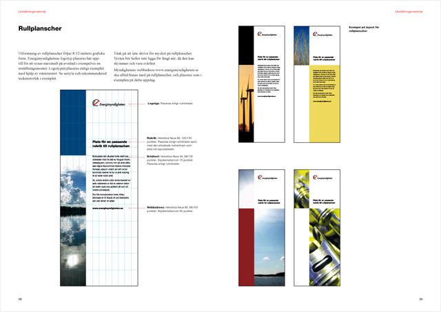 Ett uppslag ur Energimyndighetens grafiska profil