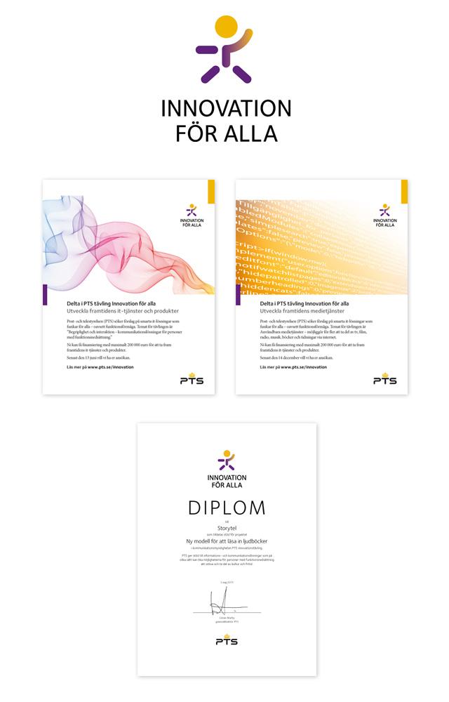 Innovation för alla – logotyp, annonser och diplom