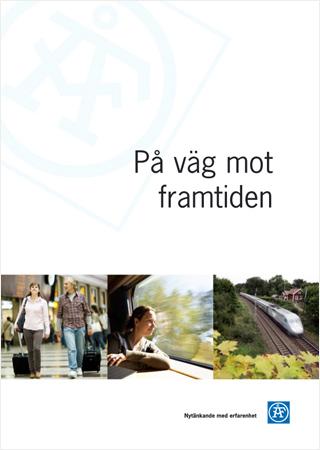 Omslaget till broschyren På väg mot framtiden