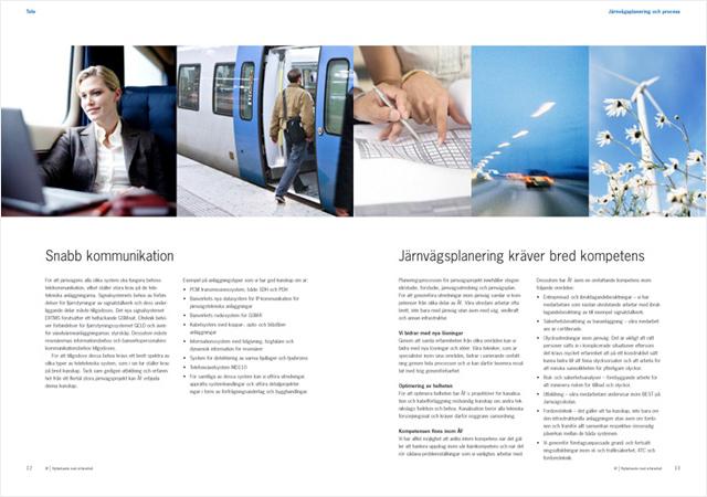 Ett uppslag ur broschyren På väg mot framtiden