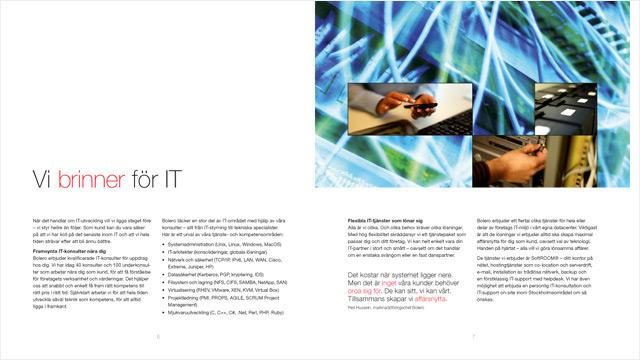 Ett uppslag ur broschyren IT som en dans