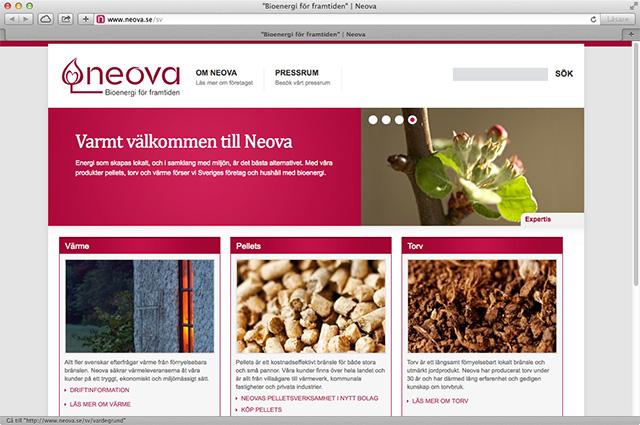 Text- och bildlösningar på Neova.se