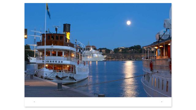 Ett uppslag ur Stockholms Hamnars årsredovisning 2011
