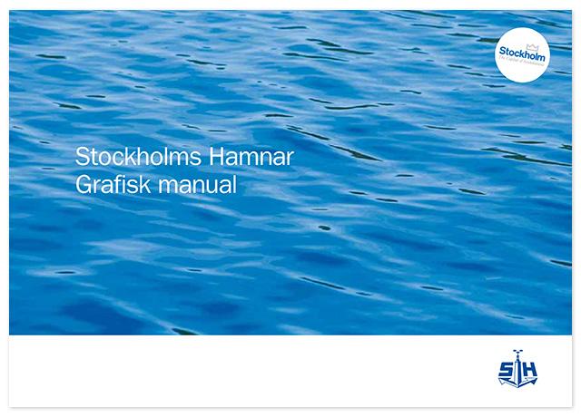 Omslaget till Stockholms Hamnars grafiska manual, 2012