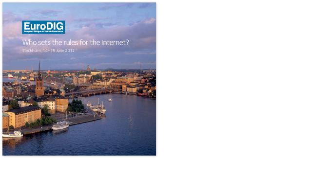 Omslaget till broschyren för EuroDig-konferensen i Stockholm 2012