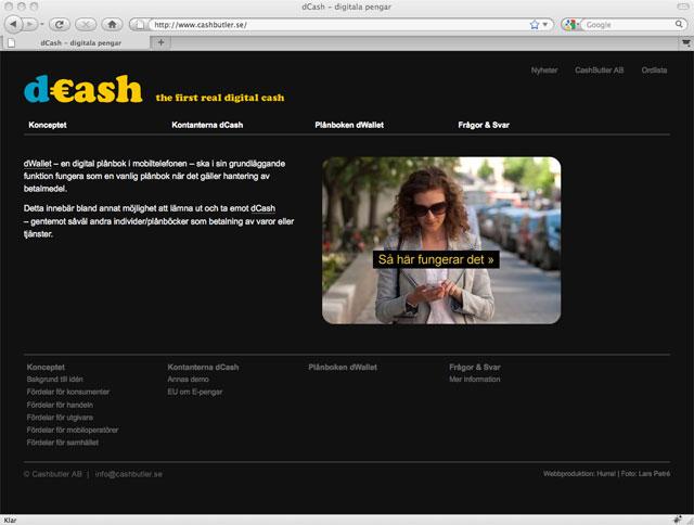 CashButlers webbplats