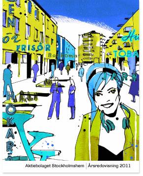 Omslaget till Stockholmshems årsredovisning 2011
