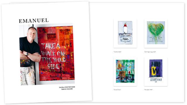 Emanuel - broschyr omslag och del av inlaga
