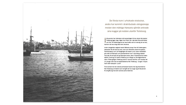 Ett uppslag ur 150 år med Trelleborgs Hamn