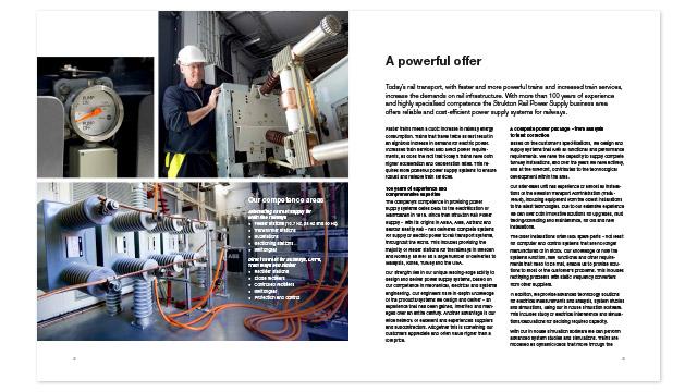 Ett uppslag ur broschyren Power Supply