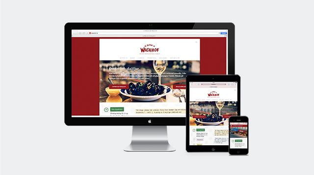 Wasahofs responsiva webbplats