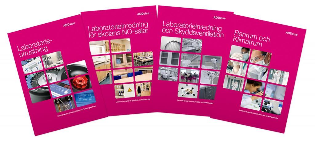 Fyra broschyrer för ADDvise