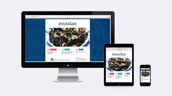 Musslans webbsida