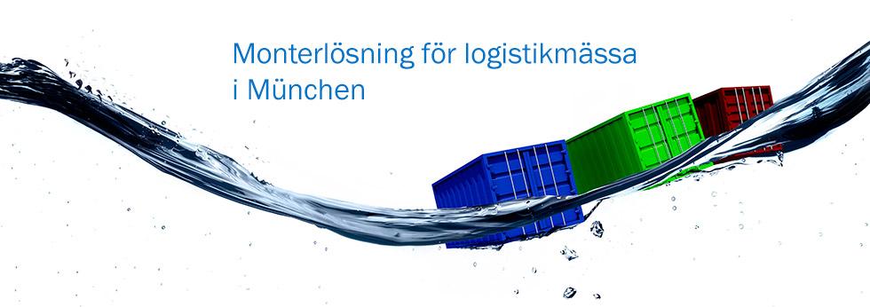Monterlösning för logistikmässa i München