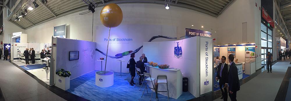Stockholms Hamnars monter i logistikmässan i München
