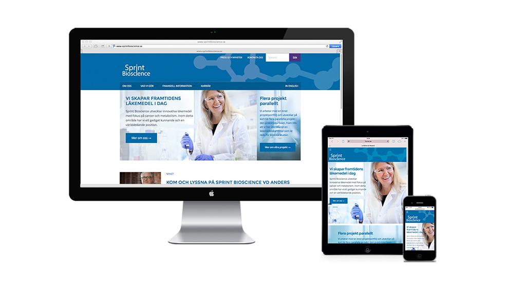 Sprint Bioscience webbsida