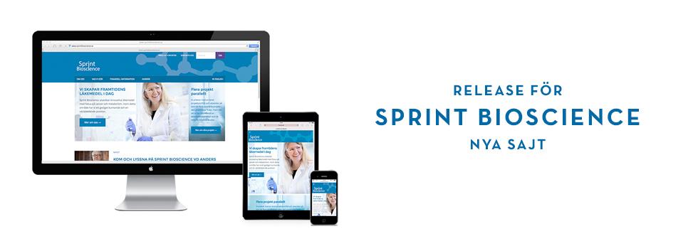 Release för Sprint Bioscience nya sajt