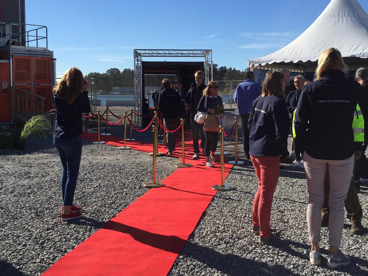 Startskottet för Norvik Hamn