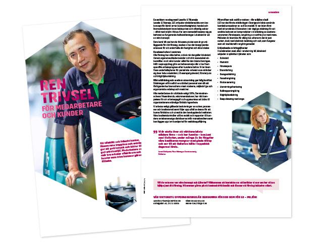 Lassila & Tikanoja produktblad, fram- och baksida
