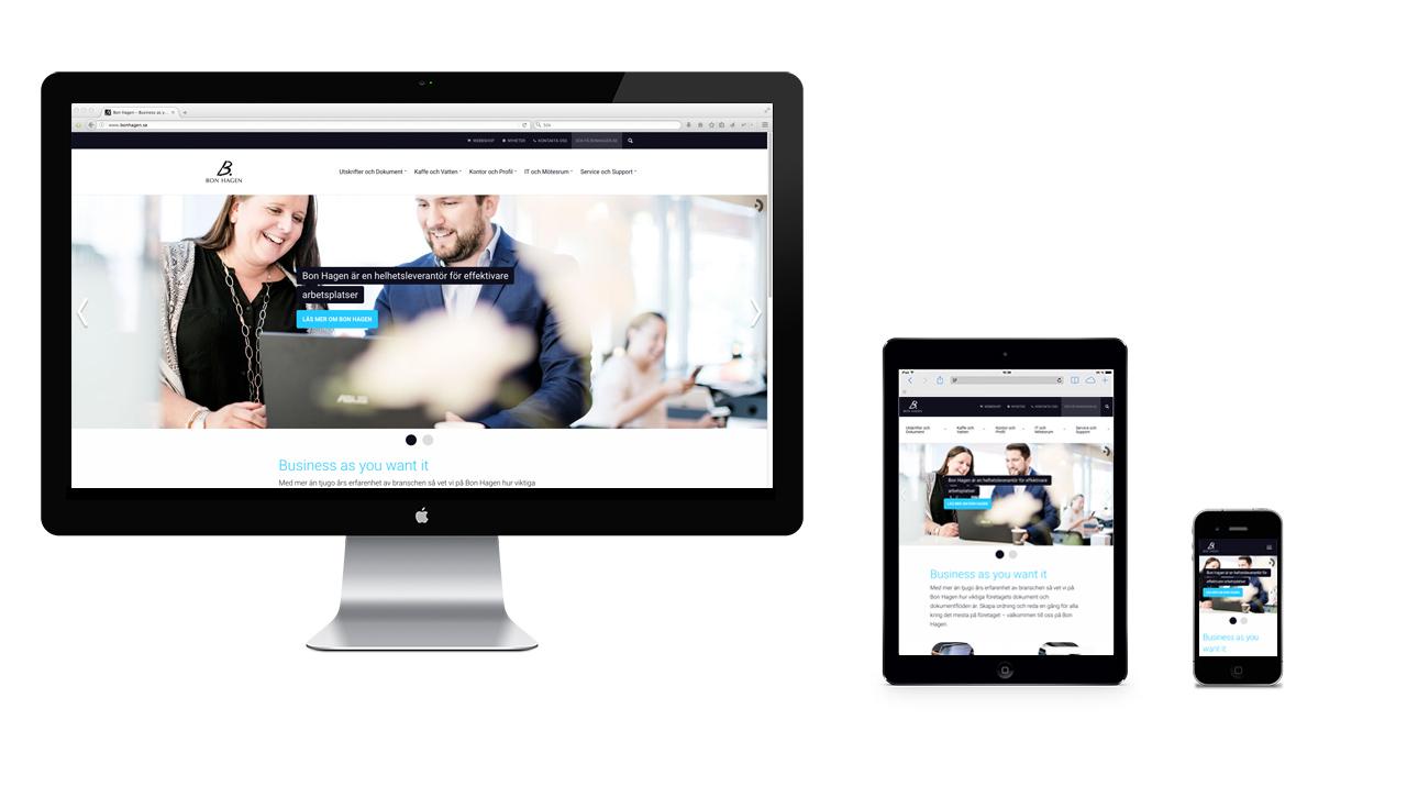 Bon Hagens webbsida