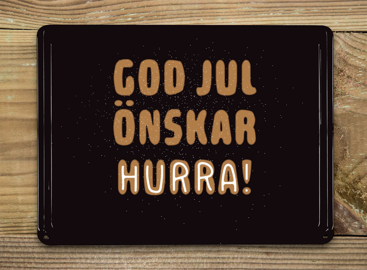 God jul önskar Hurra!